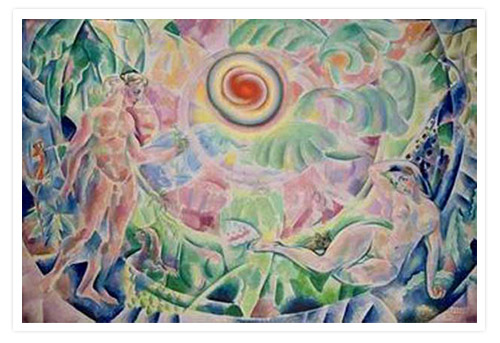 Адам и Ева (Ритм).  Владимир Баранов-Россине.  1910 г.