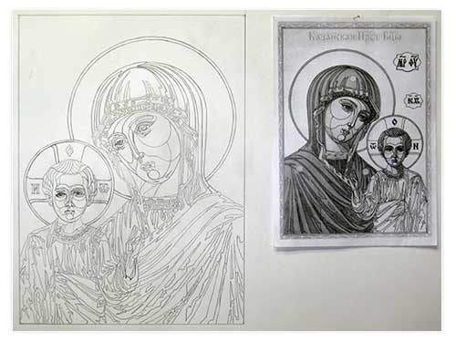 иконы карандашом: